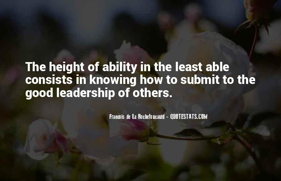 Knowing Yourself Leadership Quotes #124259