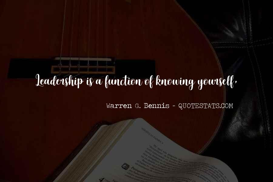 Knowing Yourself Leadership Quotes #1691603