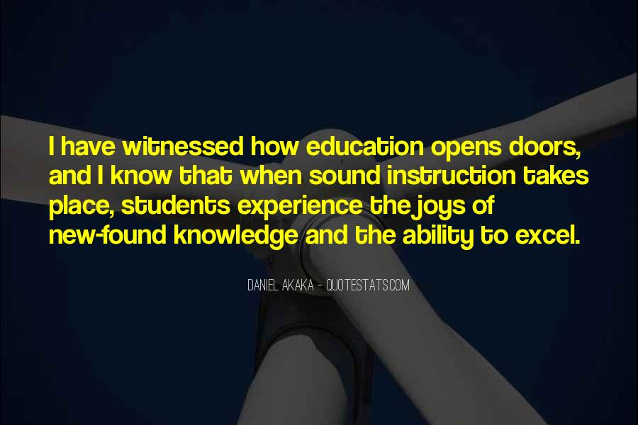 Knowledge Versus Experience Quotes #105712