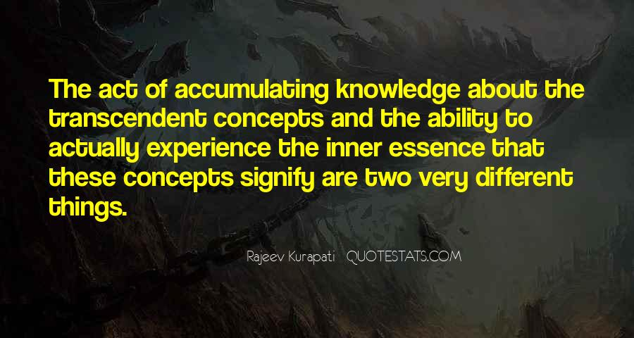 Knowledge Versus Experience Quotes #114800