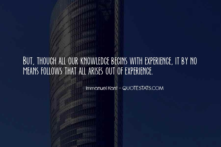 Knowledge Versus Experience Quotes #116571