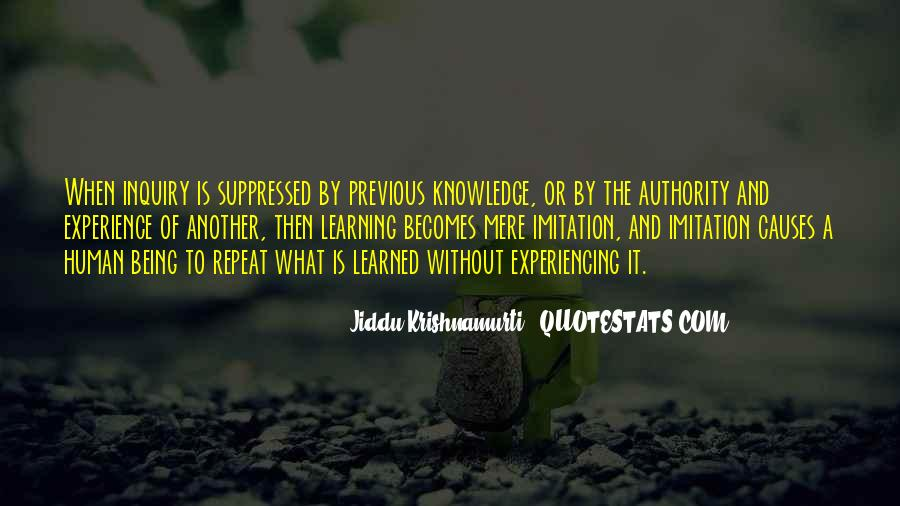 Knowledge Versus Experience Quotes #23616