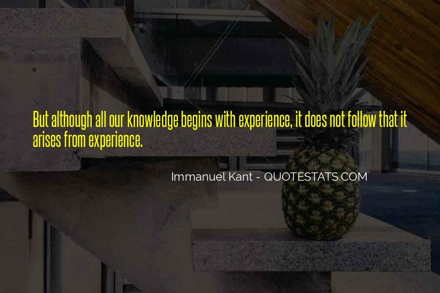 Knowledge Versus Experience Quotes #76574