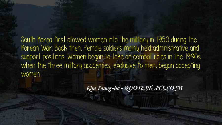 Korean War Military Quotes #1786277