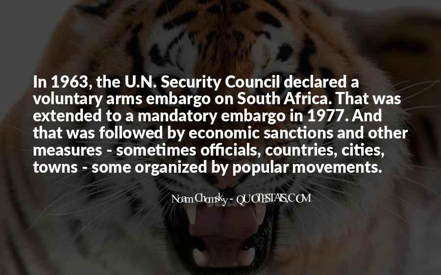 Quotes About Economic Sanctions #845649