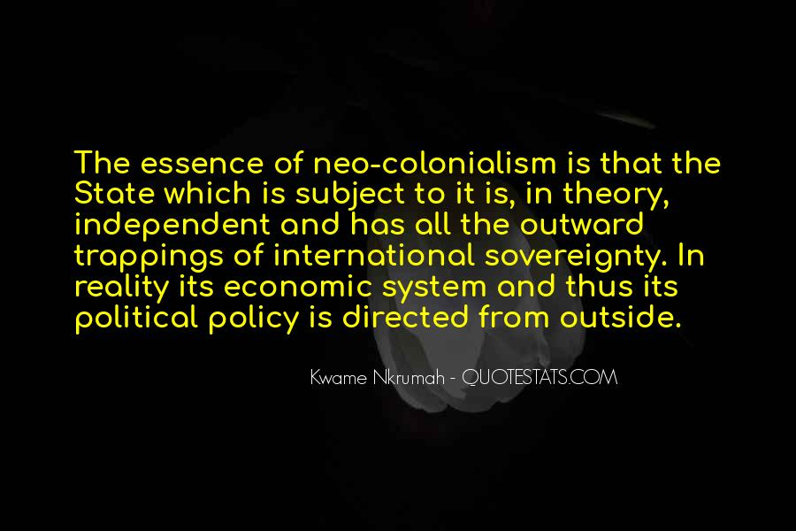 Kwame Nkrumah Neo Colonialism Quotes #1006126