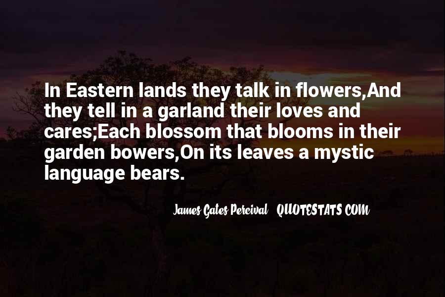 Language Of Flowers Quotes #1431001