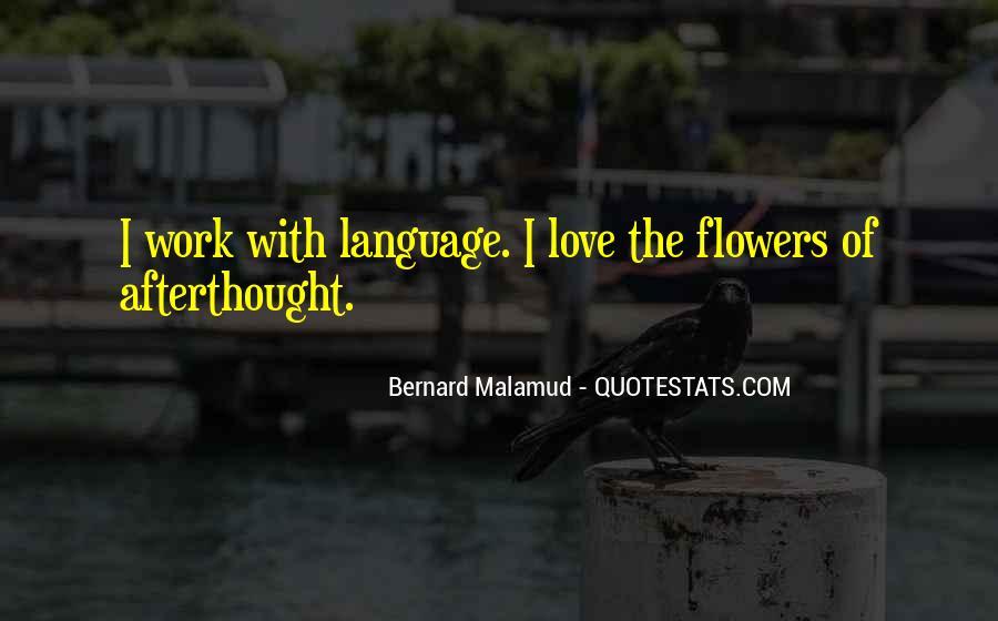 Language Of Flowers Quotes #177850