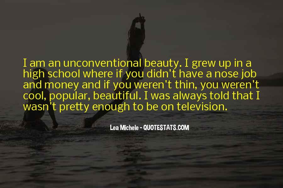 Lea Michele Nose Quotes #1657083