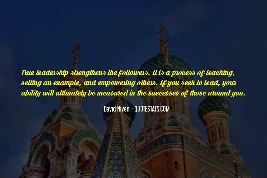Lead By Example Leadership Quotes #1555751