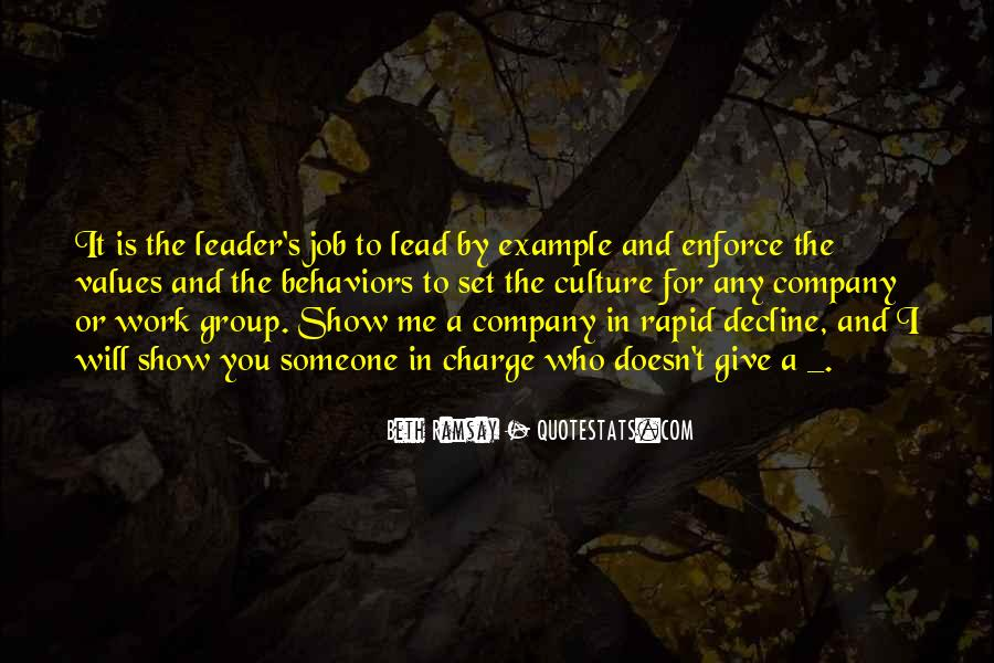 Lead By Example Leadership Quotes #247423