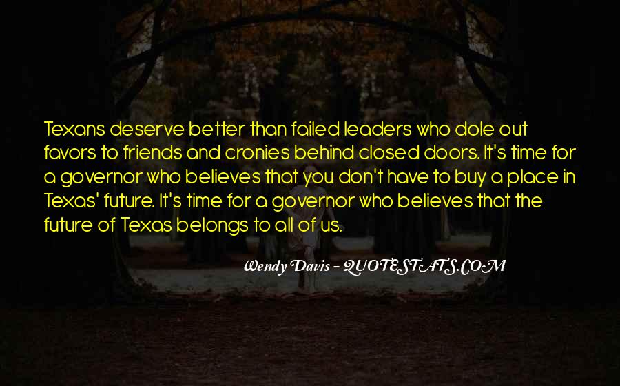 Leaders And Friends Quotes #1791732