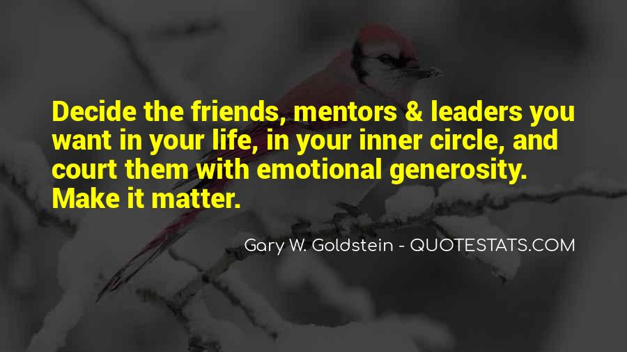 Leaders And Friends Quotes #188478