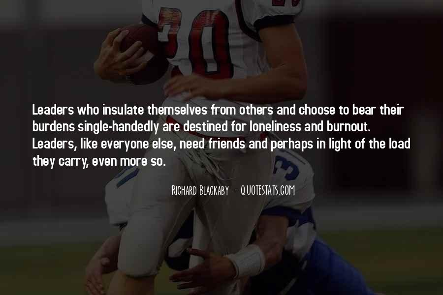 Leaders And Friends Quotes #454373