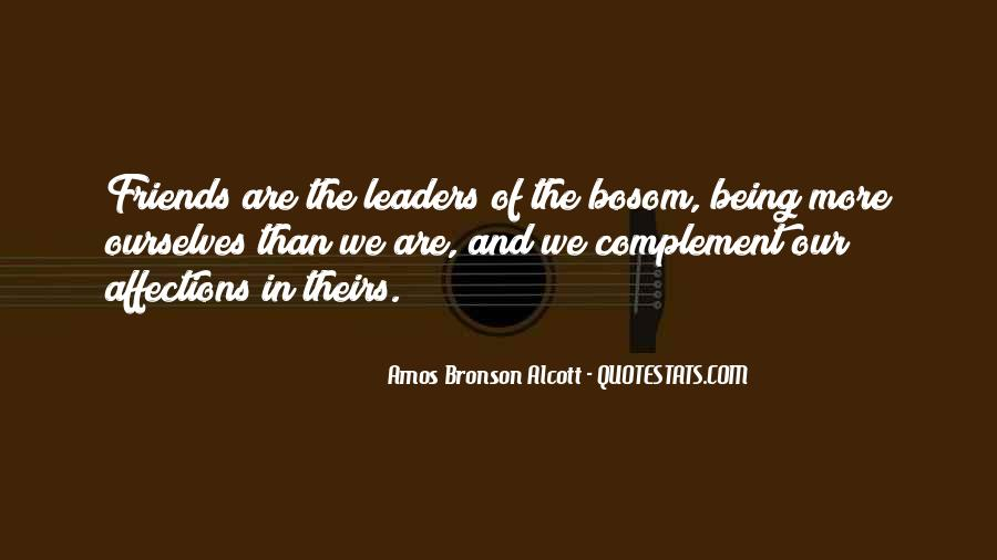 Leaders And Friends Quotes #880523