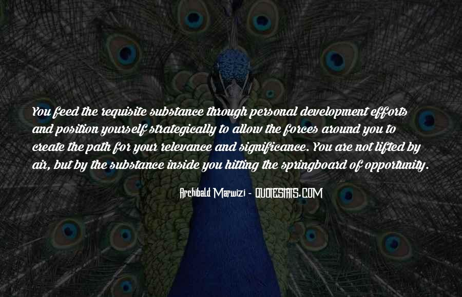 Leadership Personal Development Quotes #1773755