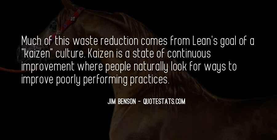 Lean Kaizen Quotes #546958