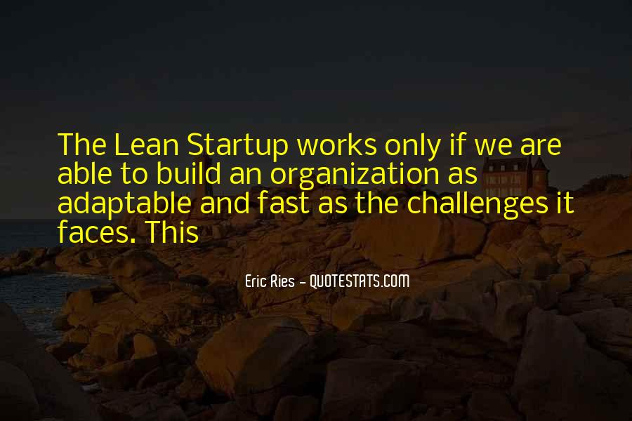 Lean Startup Quotes #1426638