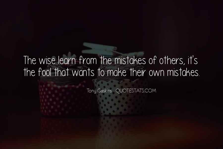 Learn From Others Mistakes Quotes #1189582