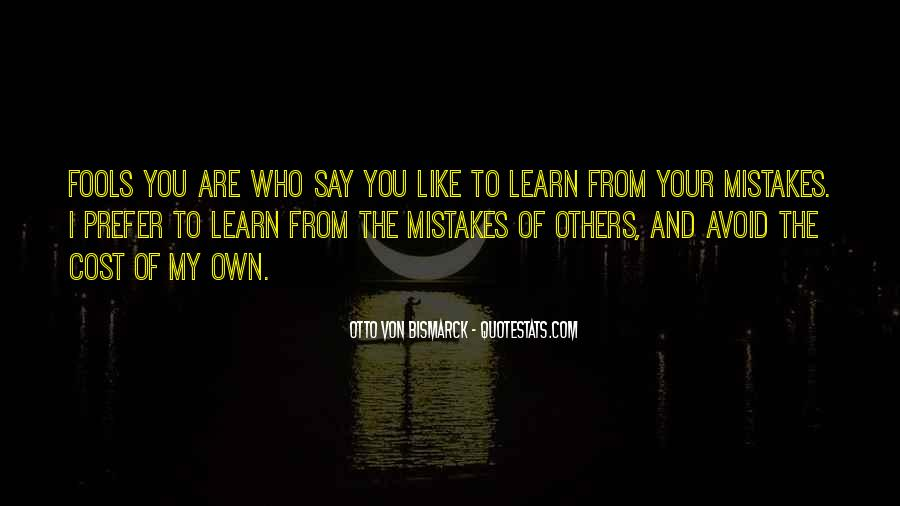 Learn From Others Mistakes Quotes #13643