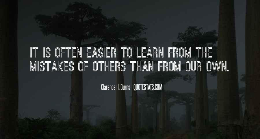 Learn From Others Mistakes Quotes #1819744