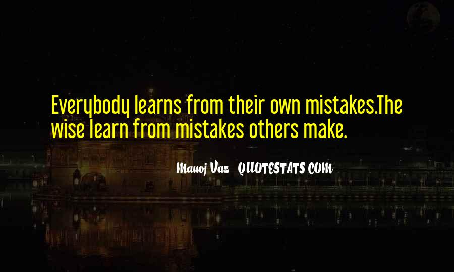Learn From Others Mistakes Quotes #287105