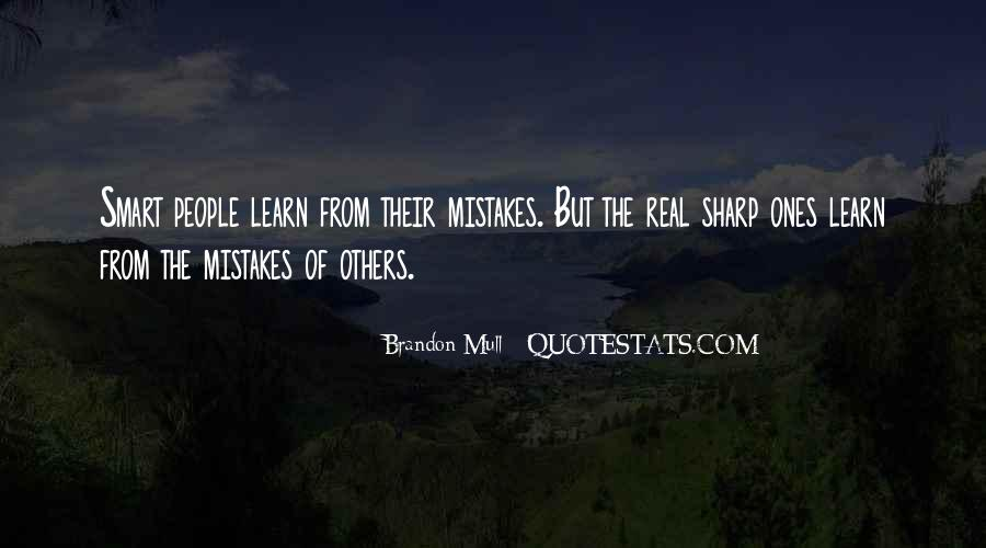 Learn From Others Mistakes Quotes #39796