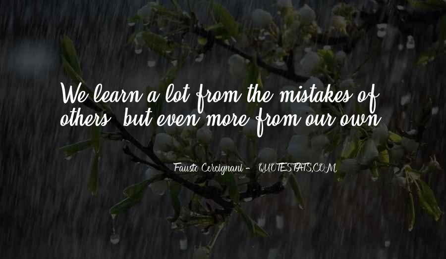 Learn From Others Mistakes Quotes #502238