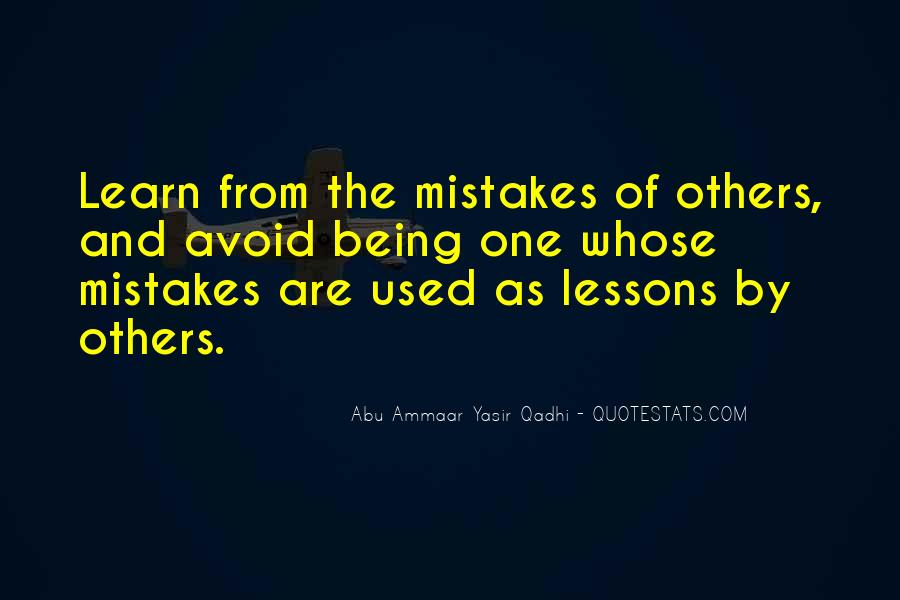 Learn From Others Mistakes Quotes #793845