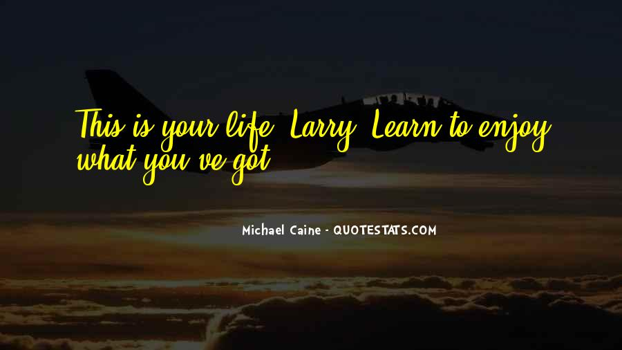 Learn To Enjoy Life Quotes #397749