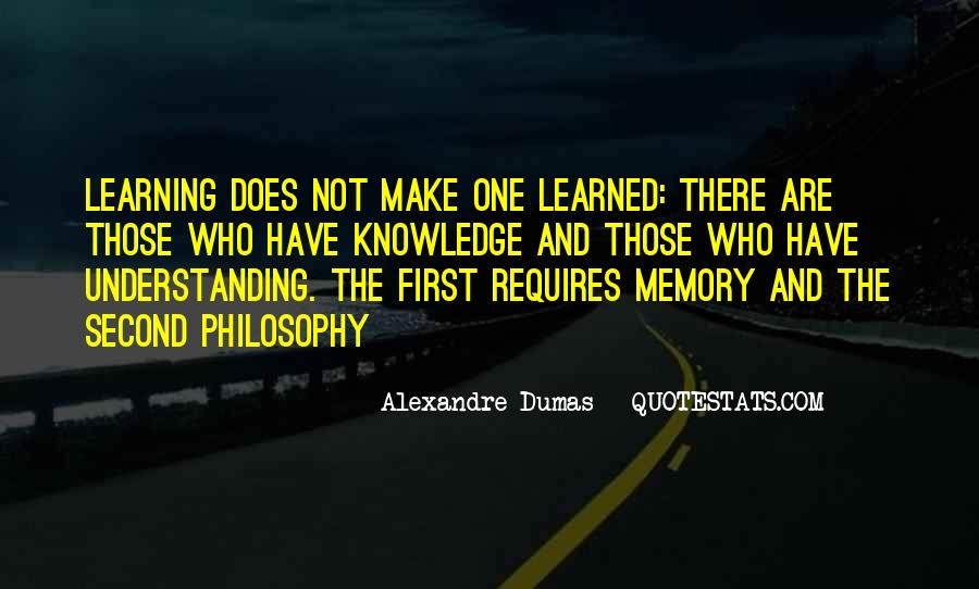 Learning And Memory Quotes #1209567