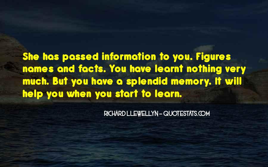 Learning And Memory Quotes #1587427