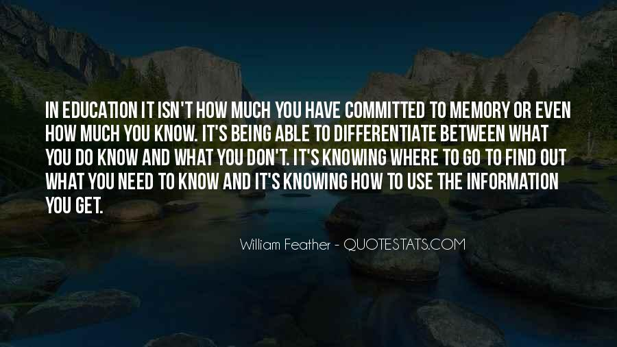 Learning And Memory Quotes #282532