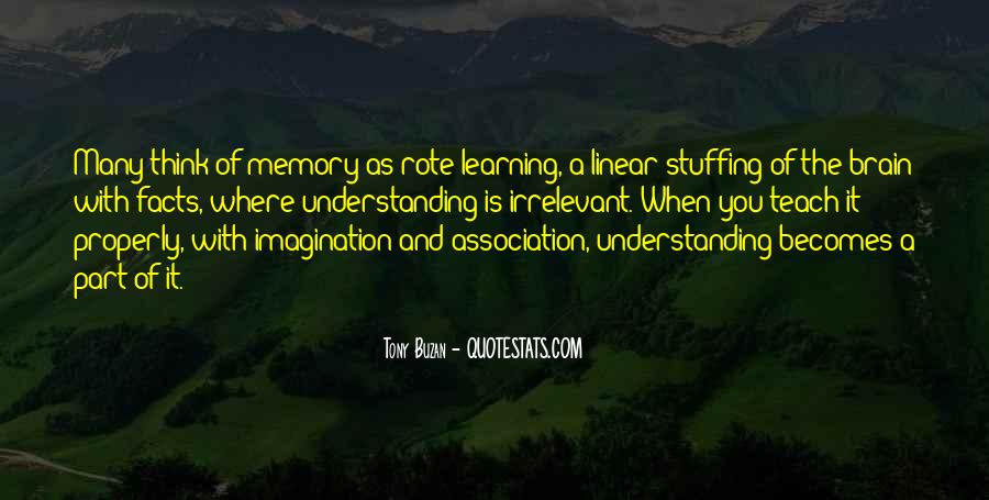 Learning And Memory Quotes #544279
