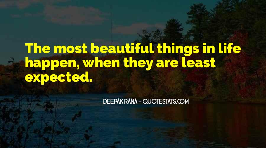 Least Expected Love Quotes #41875