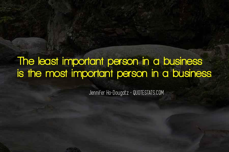 Least Important Person Quotes #134720