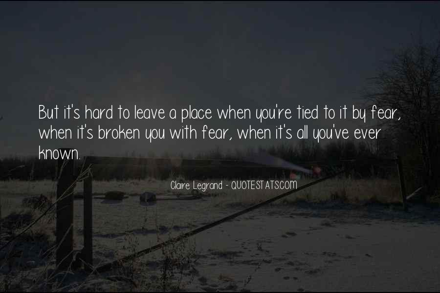 Leave You Quotes #1211