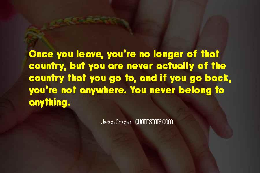 Leave You Quotes #29658