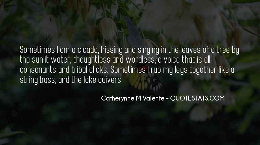 Leaves And Water Quotes #110769