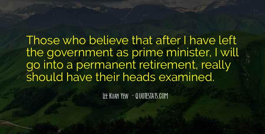 Lee Kuan Yew's Quotes #1144516