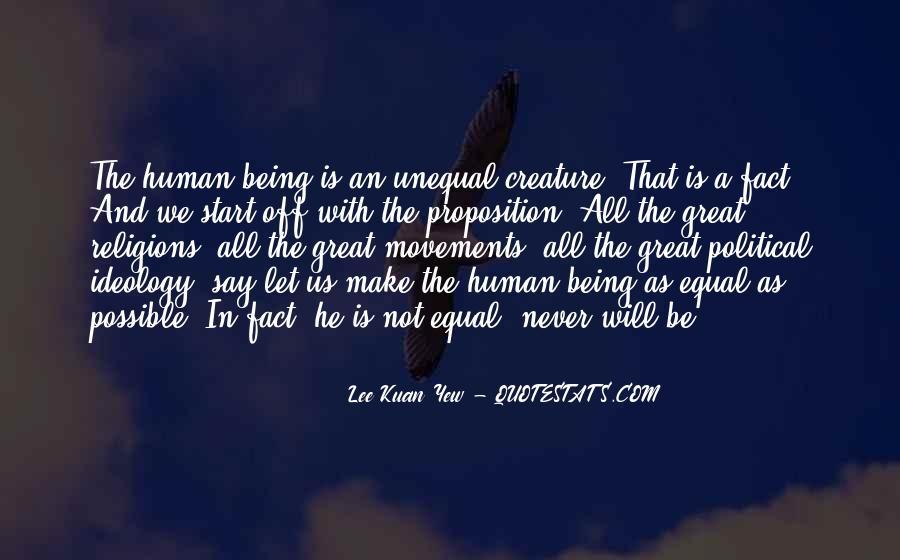 Lee Kuan Yew's Quotes #1160961