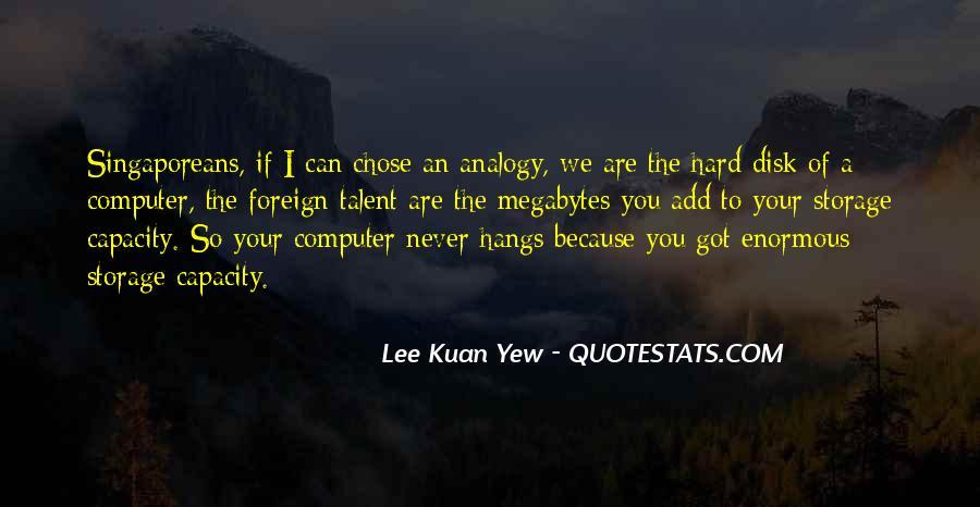 Lee Kuan Yew's Quotes #1776506