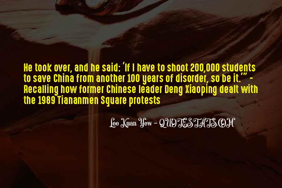 Lee Kuan Yew's Quotes #303826