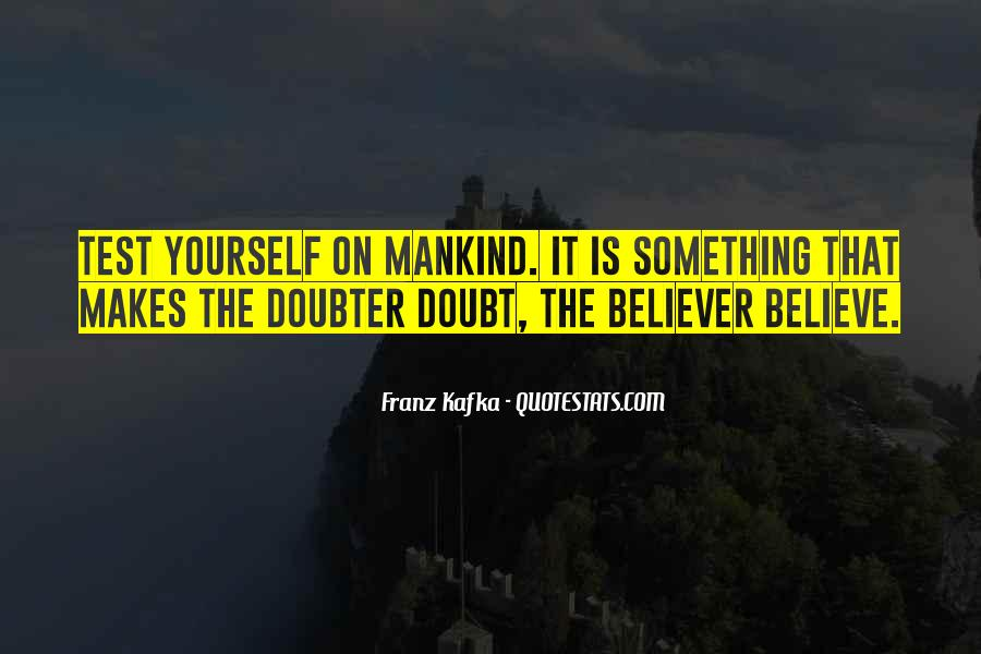 Quotes About Doubter #1132457
