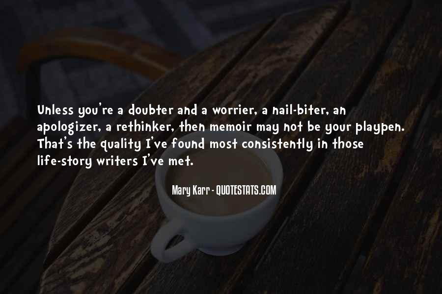 Quotes About Doubter #1148130