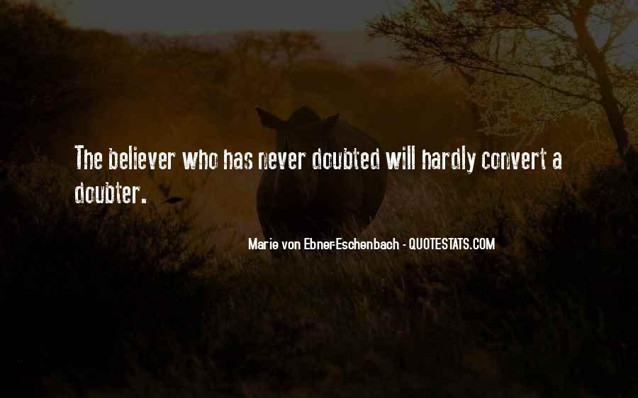Quotes About Doubter #301026
