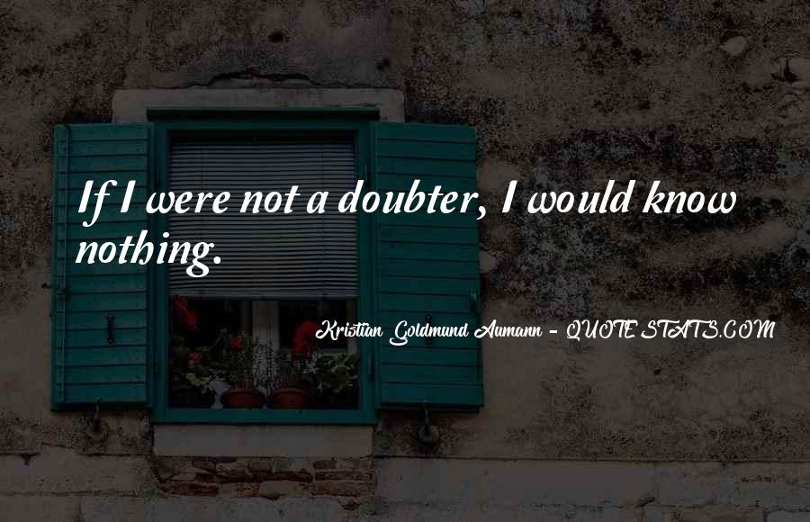 Quotes About Doubter #343478