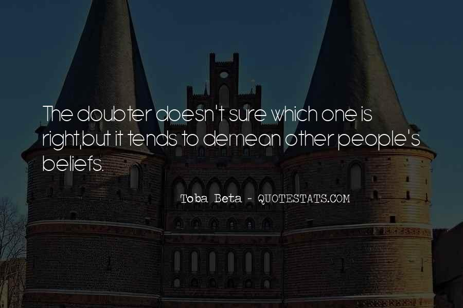 Quotes About Doubter #447118