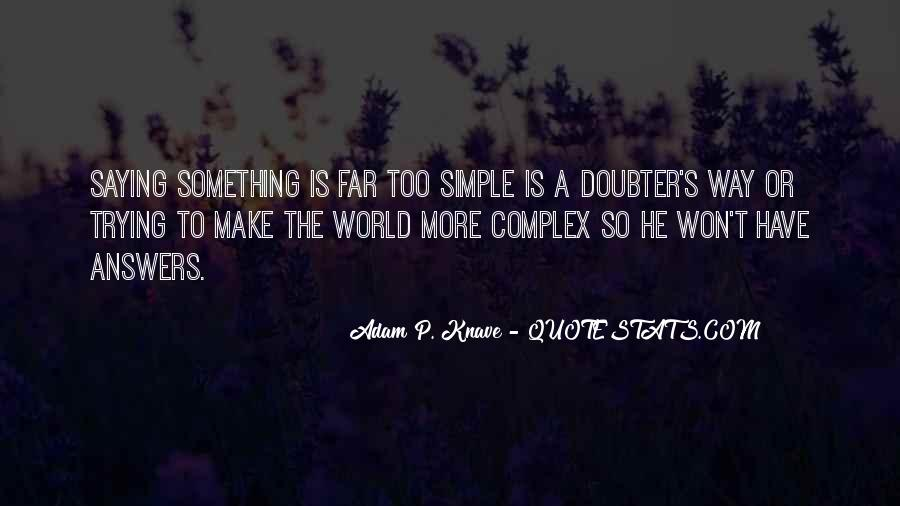 Quotes About Doubter #983544
