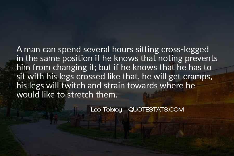 Legs Crossed Quotes #728252
